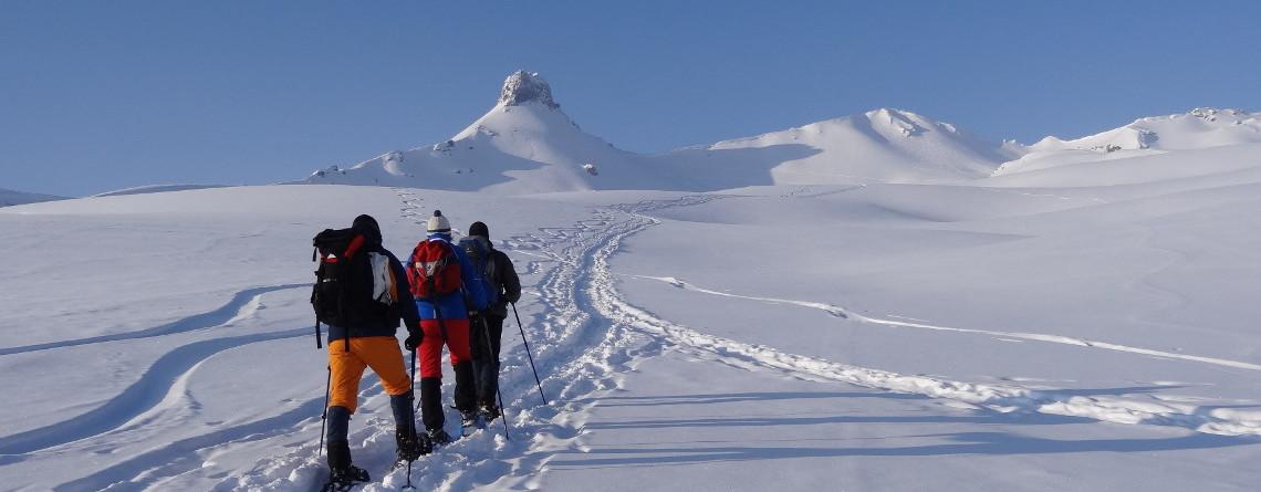 Schneeschuhwanderung zur Spitzmeilenhütte
