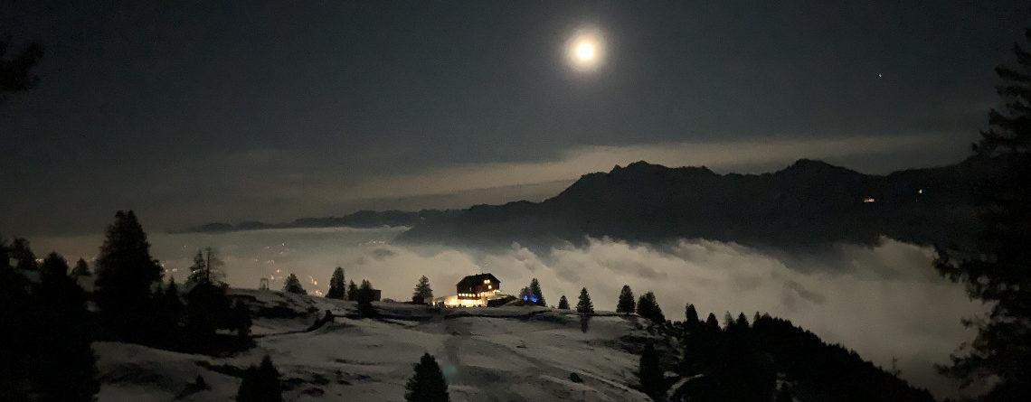 Vollmond-Schneeschuhtour Buchserberg SG